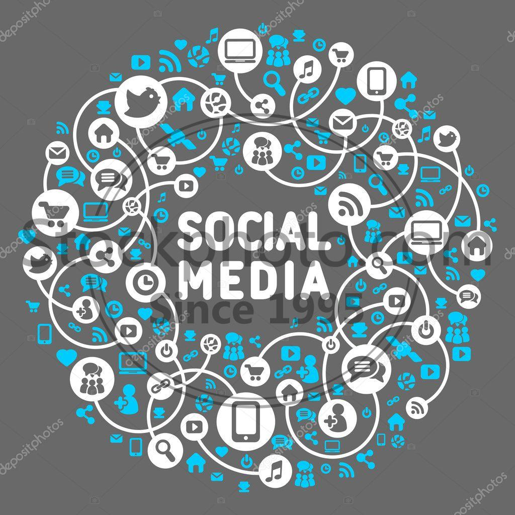 stock photos social media background of the icons vector