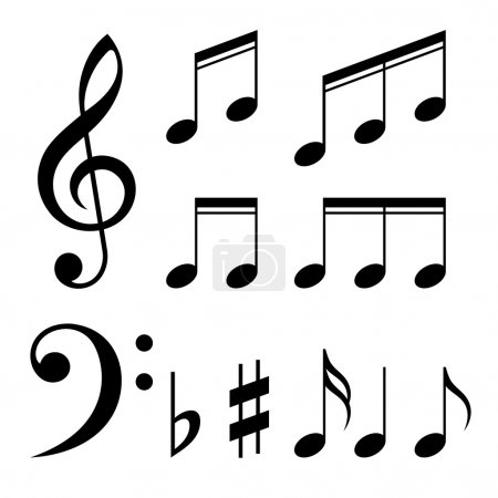 stock photos set of music notes