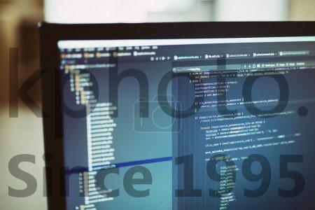Stock photo of backend sourcecodes on computer monitor - Web site codes on computer monitor. There is a shallow depth of field.