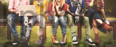 Stock photo of Teenagers or Friends, Friendship Concept - Diversity Group of  Teenagers Friends, Friendship Team Concept